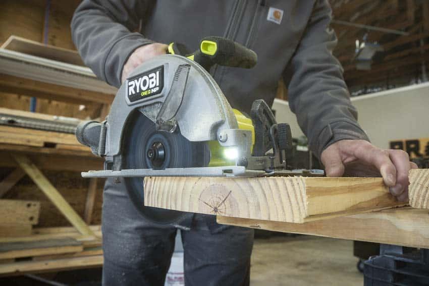 Circular Saw cutting wood