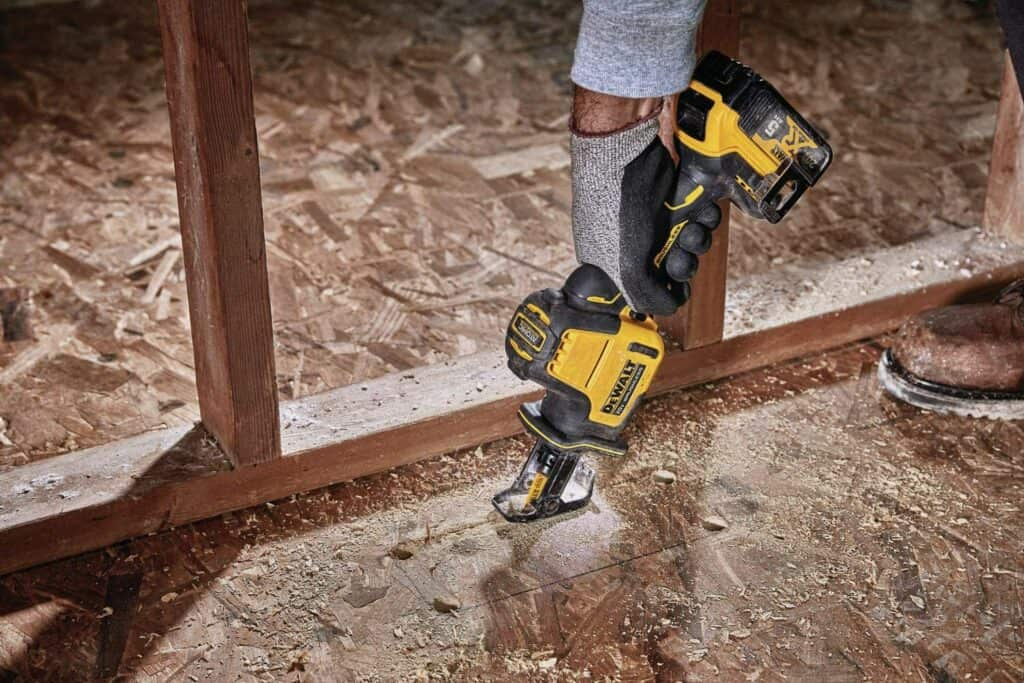 Cutting Wooden Floor with a Reciprocating Saw